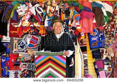 Seller Of Souvenirs From Ecuador