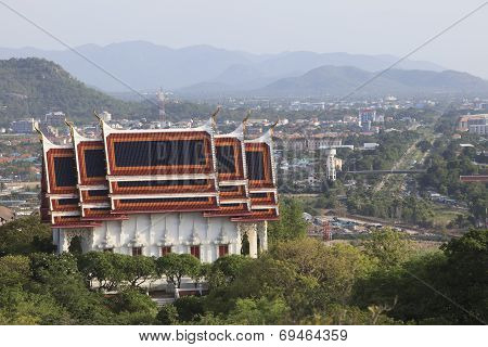 Buddha Church On Mountain In Huahin Distric Prachaupkhirikhun Province Southern Of Thailand