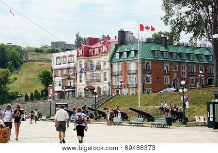 Tourists On The Terrasse Dufferin
