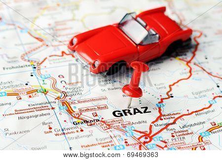 Graz ,austria Map Auto