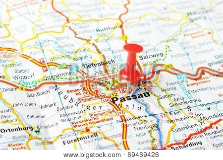 Passau  ,austria Map