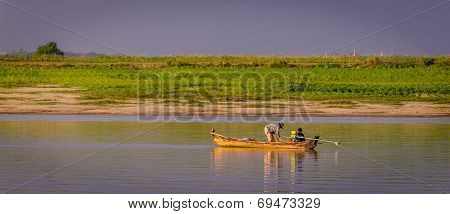 Fisherman Irrawaddy River, Myanmar