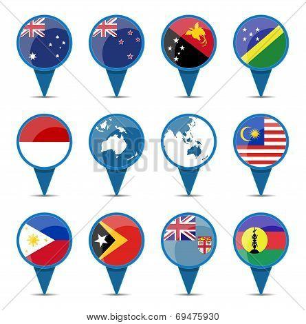 National Flags Of Australia Oceania
