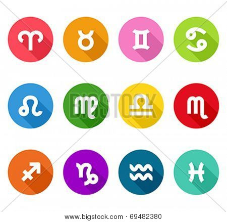 Zodiac flat icons