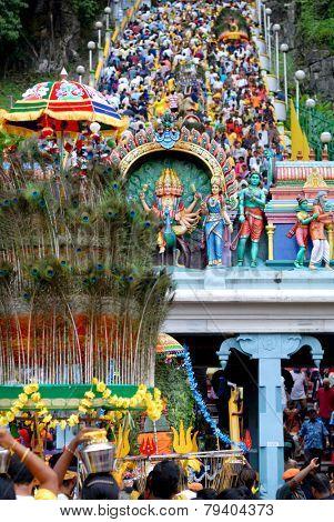 The Hindu festival of Thaipusam, Batu Caves, Kuala Lumpur.