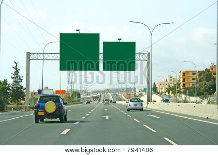 Road And Billboards