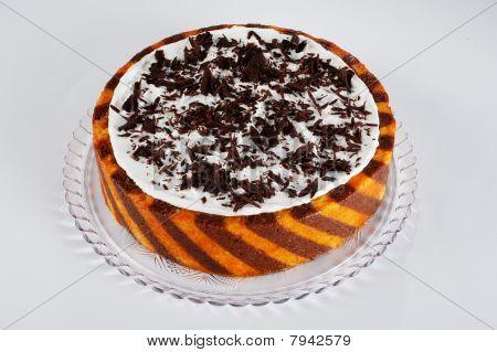 orange and chocolate cake