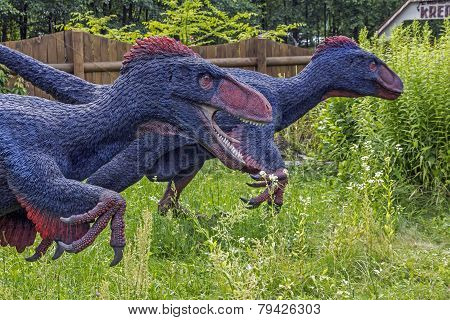 Realistic Model Of Feathered Dinosaurs