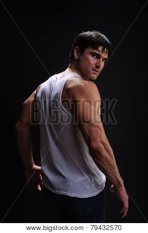 handsome muscle man