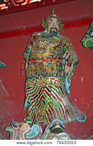 Taoist Statues Decorating An Alta,r China