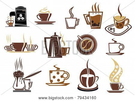 Brown Coffee Icons