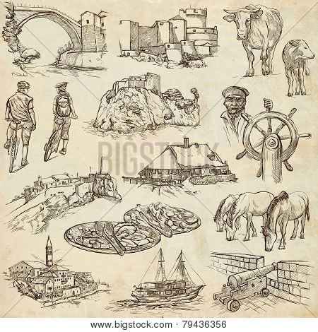 Former Republics Of Yugoslavia - Drawings On Paper