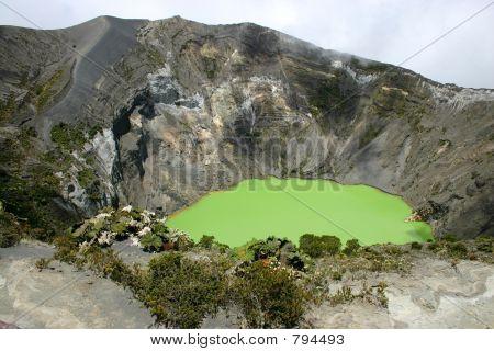Crater of the Irazu volcano