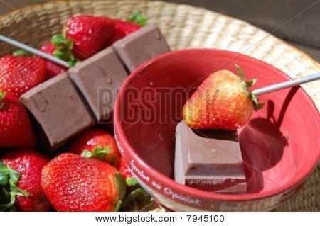 Fondue Strawberries