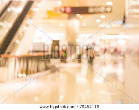 Escalators At The Modern Shopping Mall.