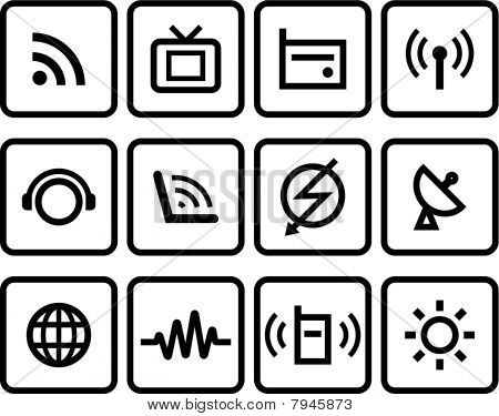 Media & Communications  - Vector Icons Set