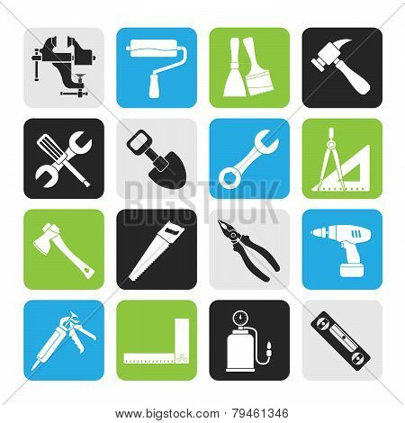 Silhouette Building and Construction work tool icons