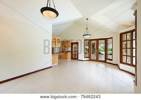 Interior design: Big modern kitchen