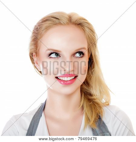 Beauty Surprised Blonde Woman