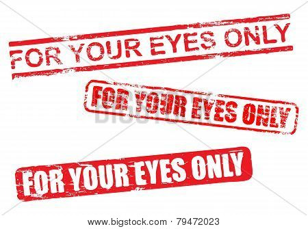 For Your Eyes Only Stamps
