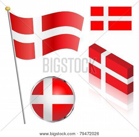 Danish Flag Set