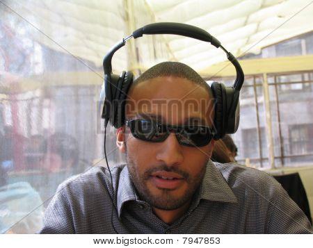 Listening With Big Headphones