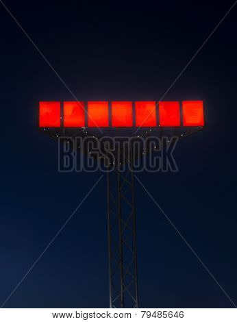 Red Neon Sign at night