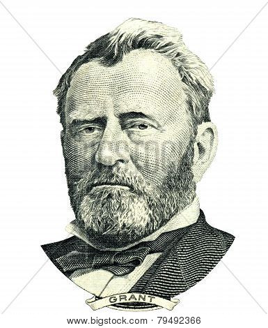 Ulysses S. Grant Portrait Cutout (clipping Path)
