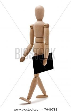 Isolated Mannequin Carrying A Black Plastic Credit Card