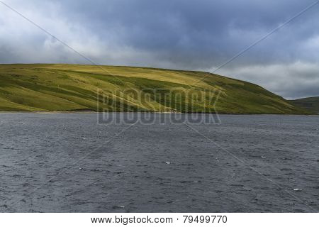 The Claerwen Reservoir.