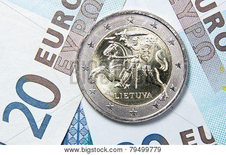 2 Euro Of Lithuania