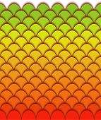 Colorful background of scales that repeats sideways poster