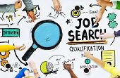 Diversity Hands Searching Job Search Opportunity Concept poster