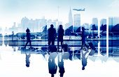 Business People Travel Corporate Aiport Passenger Terminal Concept poster
