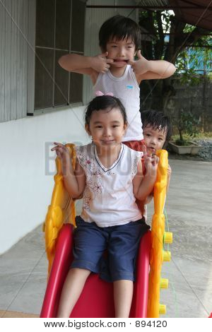 Kids On The Slide