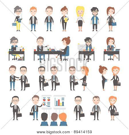 Group of business and office people.