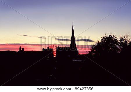 Sunset In Uptown Saint John Nb