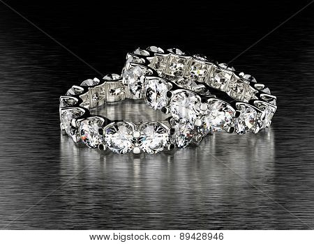 Engagement Ring with Diamond. Jewelry background poster