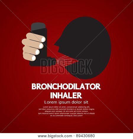 Asthma Patient Using Bronchodilator Inhaler.