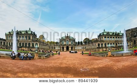 View On Zwinger Palace In Dresden, Germany