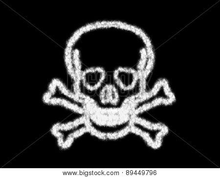 Symbol Of Skull Bone From The Cloud