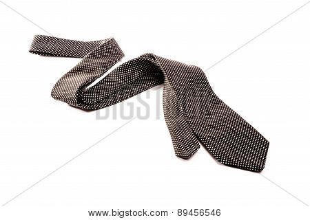 Black And White Tie On White Background