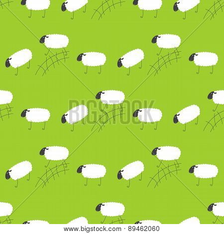 Pattern With Jumping Sheep
