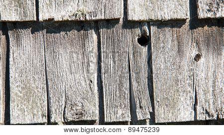 rustic wooden shingles