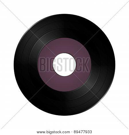 Single vinyl record disc.
