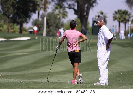 Dewi Claire Schreefel of holland at the ANA inspiration golf