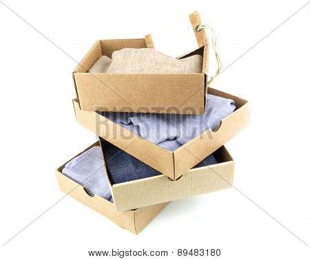 Clothes In Open Containers With Card