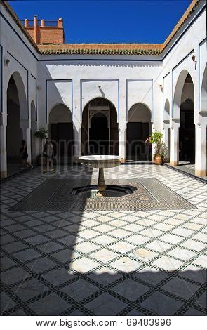 Bahia Palace, Marrakech, Morocco - April 13,