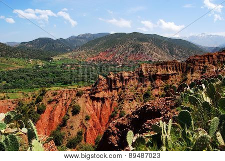 Beautiful landscape of Atlas mountains, Morocco, Africa