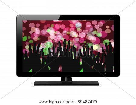 Modern Tv Screen Festive Lights